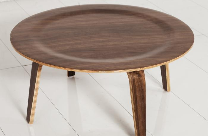 eames style walnut coffee table