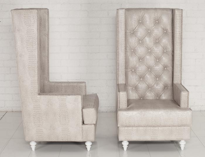 Www Roomservicestore Com Tall Boy Tufted Wing Chair In