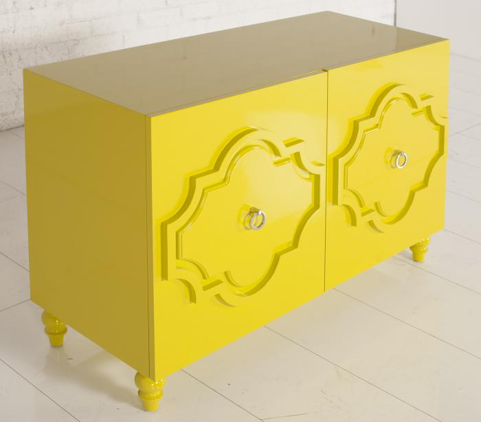 Marrakesh Credenza in Chartreuse