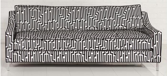 Lautner Sofa-Black and White