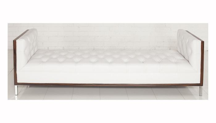 koenig daybed in white faux crocodile