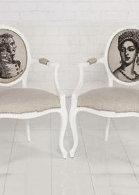 Victoria Dining Chair w/ British Monarch and Soldier