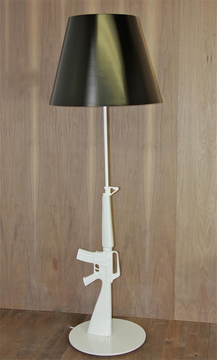 Gold Ak 47 Lamp Design Ideas