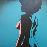 Afro Chick Nude Original Artwork