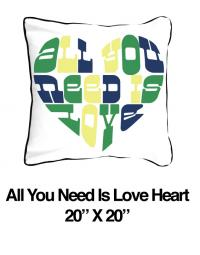 All You Need Is Love Heart Green