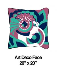 Art Deco Face Lavender