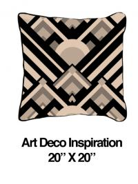 Art Deco Inspiration Black Oatmeal