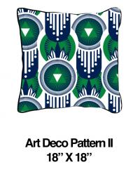 Art Deco Pattern Green