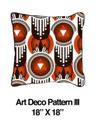 Art Deco Pattern Orange