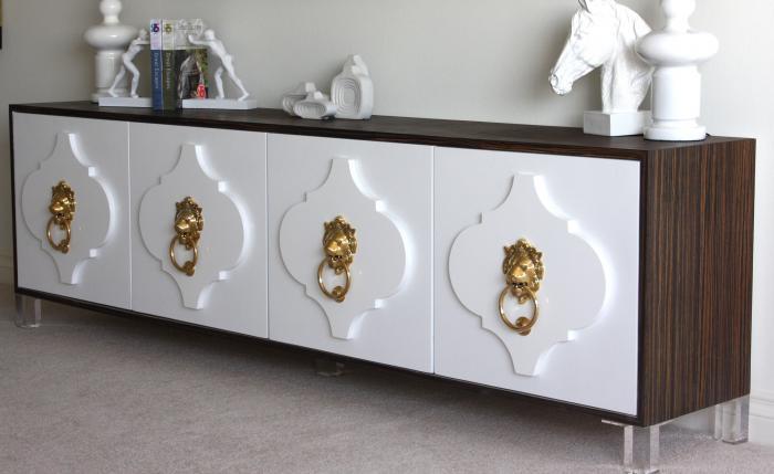 white lacquered furniture. Moroccan Credenza - Macassar/white Lacquer White Lacquered Furniture