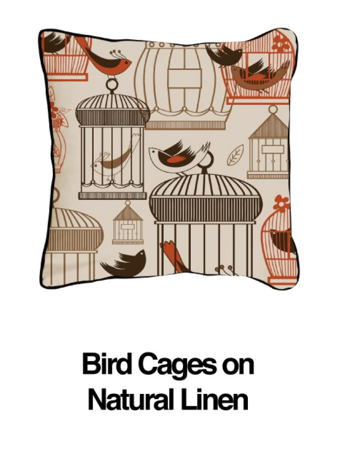 Bird Cages Orange Oatmeal