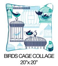 Bird's Cage Collage Green