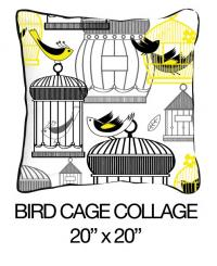 Bird Cage Collage Yellow/Black