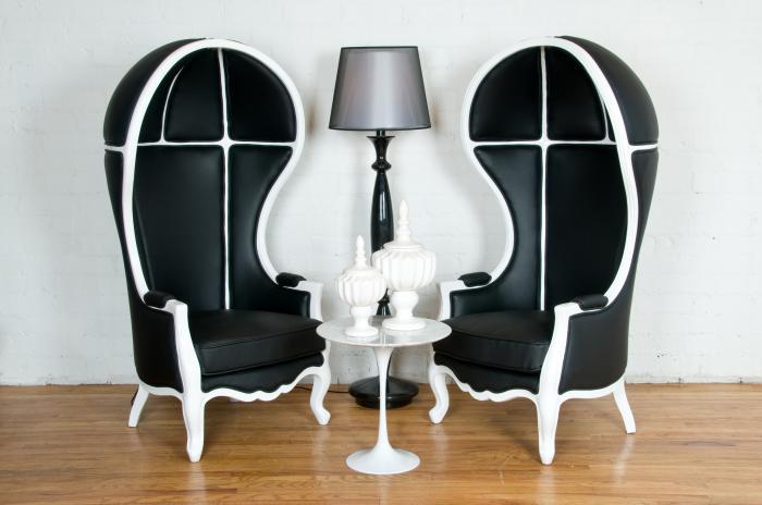 Genial Black U0026 White Balloon Chair