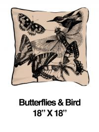Butterflies and Birds Black Oatmeal