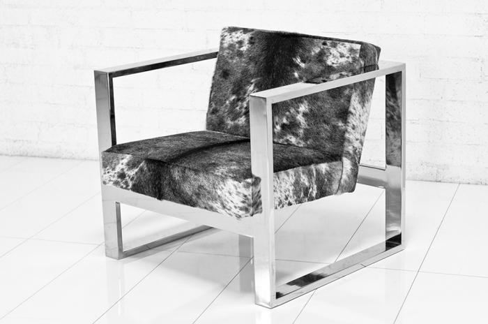 Fat U Leg Cowhide Chair