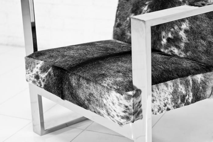 Attrayant Fat U Leg Cowhide Chair