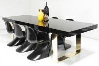 Fat Brass U-Leg Dining Table