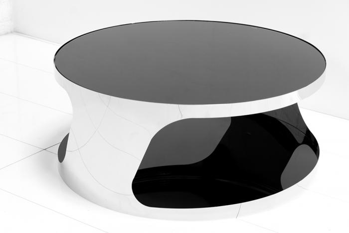 Superb Modern Round Chrome Coffee Table