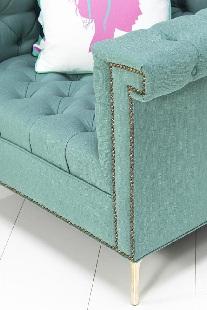 Www Roomservicestore Com Sinatra Arm Chair In Turquoise Textured Linen