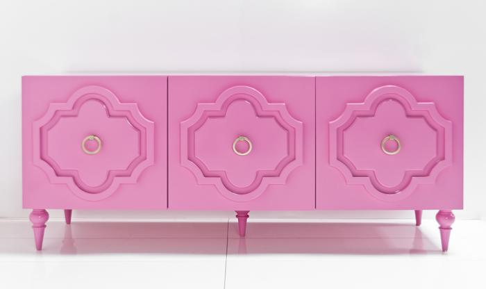 Marrakesh Credenza in Gloss Pink
