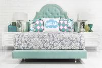 Bel Air Bed in Aqua Velvet