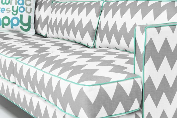chevron couch wwwroomservicestorecom down with love sofa in chevron print