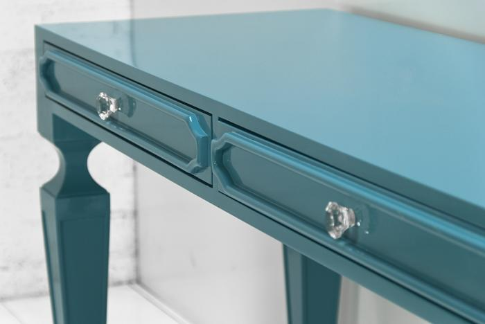 Palm Beach Desk in Turquoise
