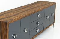 Brixton Credenza in Rosewood and Charcoal