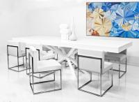 Sputnik Dining Table in White