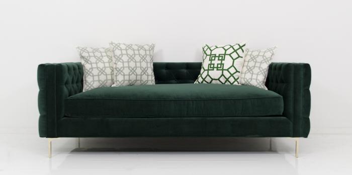 Inside Out New Deep Sofa In Green Velvet