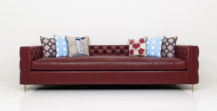 Inside Out New Deep sofa in Ford Red Faux Leather