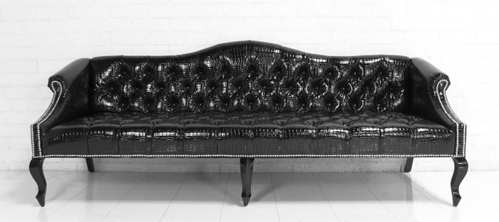 Www Roomservicestore Com Mademoiselle Sofa In Faux Black