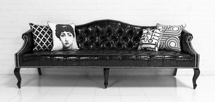 Www Roomservicestore Com Mademoiselle Sofa In Faux Black
