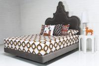 Tangier Bed with Pulled Buttons