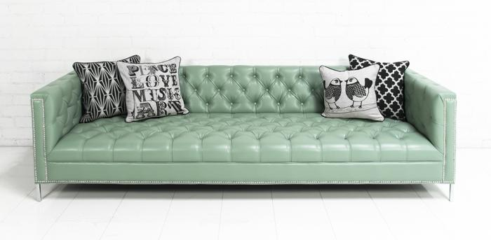 Www Roomservicestore Com Hollywood Sofa In Seafoam Faux
