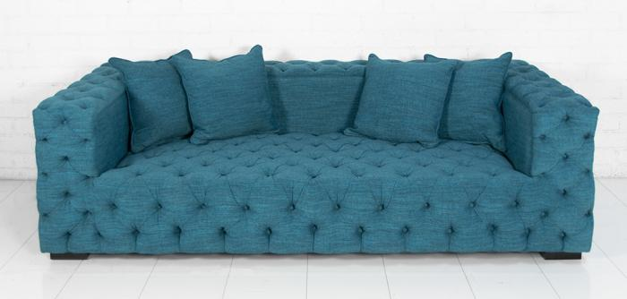 Tufted Fat Boy Sofa In Lucky Turquoise
