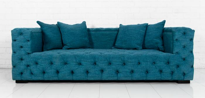 Merveilleux Tufted Fat Boy Sofa In Lucky Turquoise