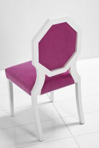 Octagon Dining Chair in Pink Velvet