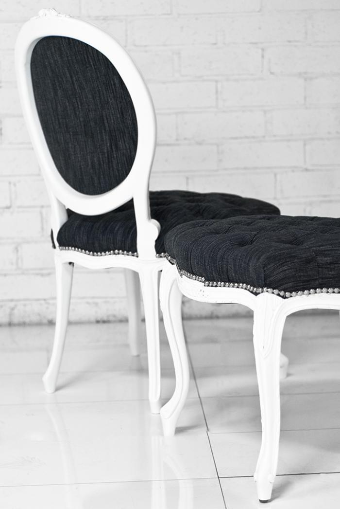Victoria Dining Chair in Dark Grey Texture Linen