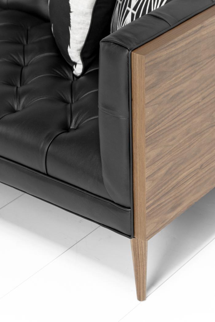 Www Roomservicestore Com Custom Neutra Sofa In Black Leather