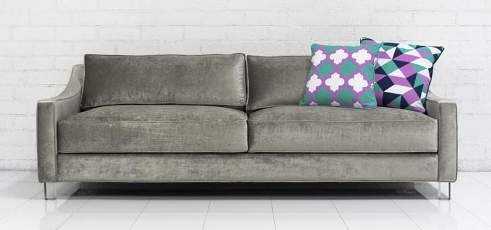 Lautner Sofa in Brussels Charcoal