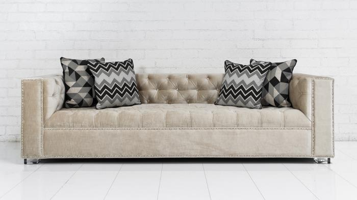 Lola Sofa In Cream Velvet