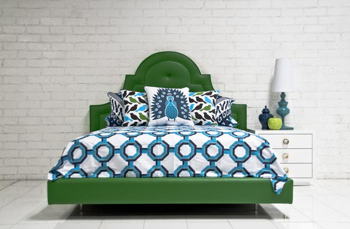 Roomservice Com Hollywood, Navy Blue And Kelly Green Bedding