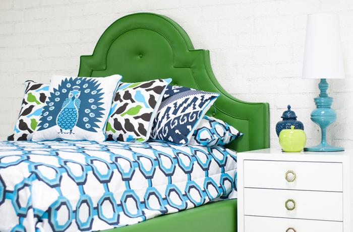 Palm Beach Bedding in Turquoise/Navy/Aqua