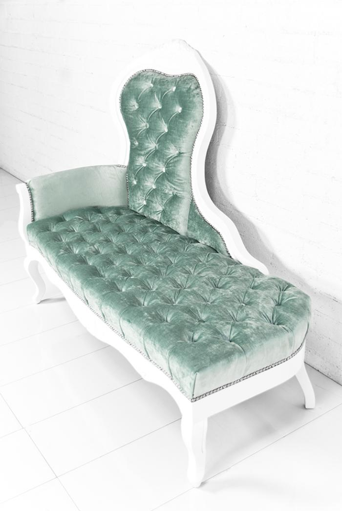 Riviera chaise lounge in aqua for Aqua chaise lounge