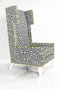 The Geometric Tangier Wing Chair