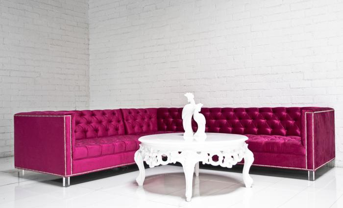 Hot Pink Hollywood Sectional