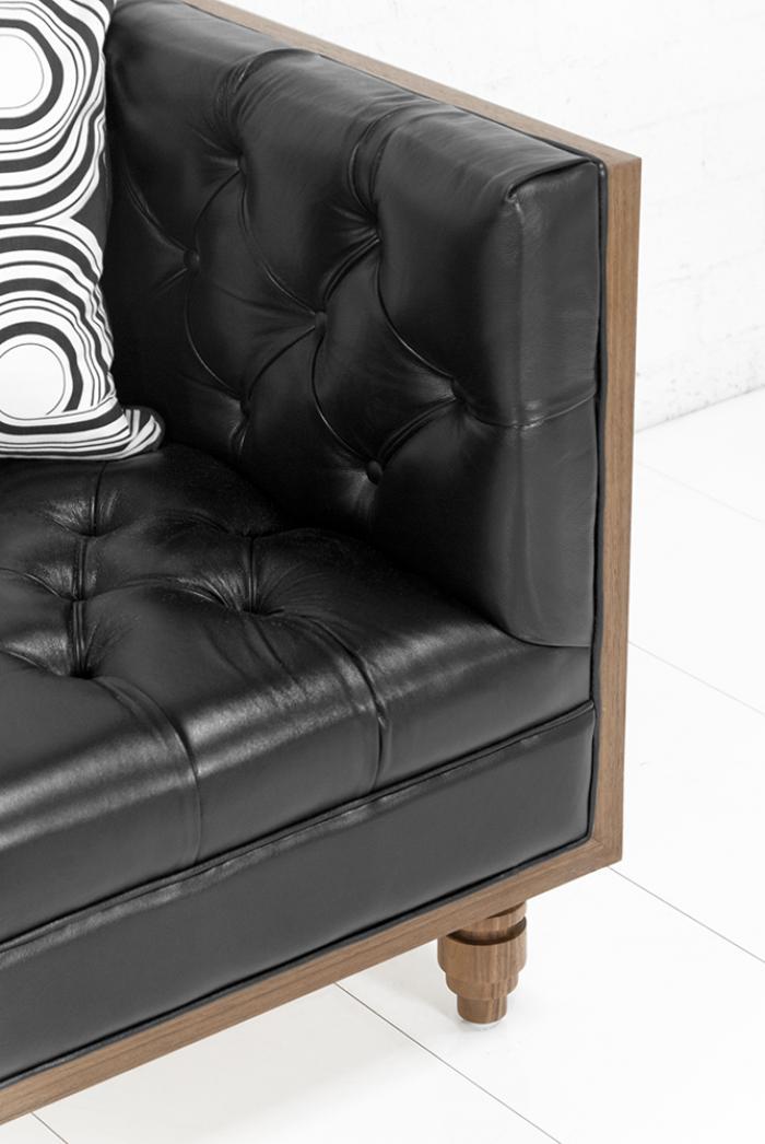 Www Roomservicestore Com Koenig Sofa In Genuine Black