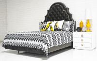 Zig Zag Bedding in Grays/Black